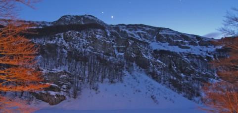 La luna e la neve – Escursione fotonaturalistica al Lago Santo Modenese 23-24 febbraio 2013