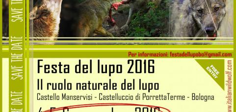 Festa del lupo 4-5-6 novembre 2016 al Castello Manservisi
