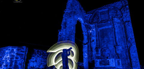 Light painting a Monte Sole – The International Day of Light 2019